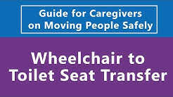 Guide for Caregivers on Moving People Safely: Wheelchair to Toilet Seat Transfer