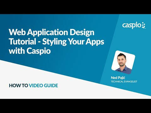 Web Application Design Tutorial - Styling Your Apps with Caspio