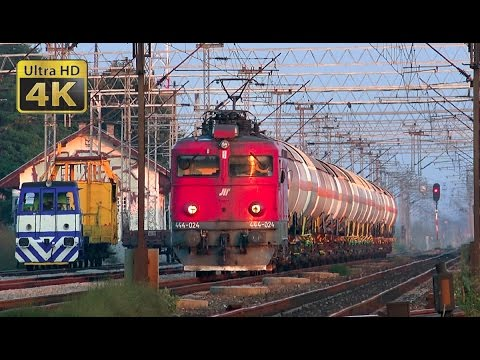 Rail traffic in Serbia - Nova Pazova - the rest of year 2016 [4K]