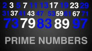 prime numbers rap song typography math