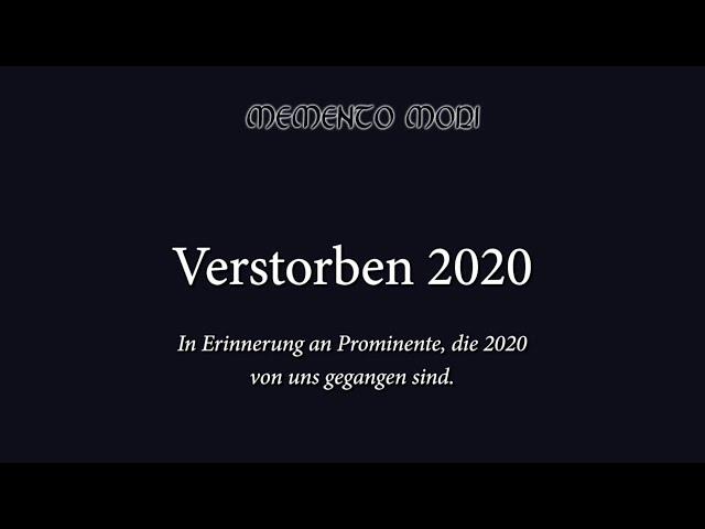 Verstorbene Prominente 2020