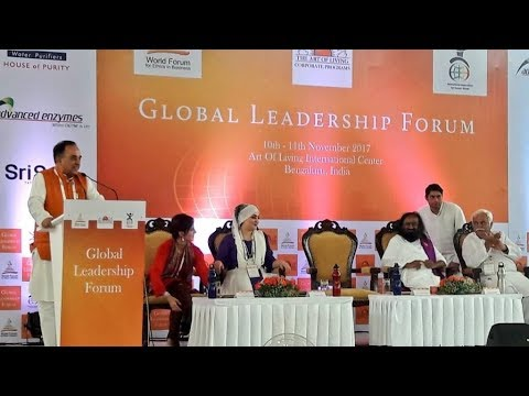Dr. Subramanian Swamy's speech at Global Leadership Forum at AOL Bangalore with enhanced audio