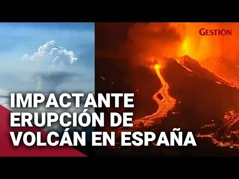 VOLCÁN de La Palma: impresionantes imágenes de la erupción del volcán Cumbre Vieja en España