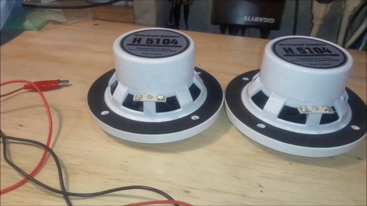 Replacement Boat Speaker Installation Demonstration Of