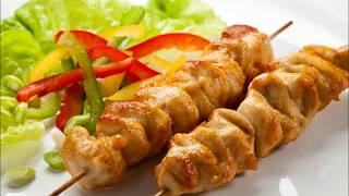 Шашлык из курицы.Куриный шашлык в духовке/ Сhicken skewers in the oven