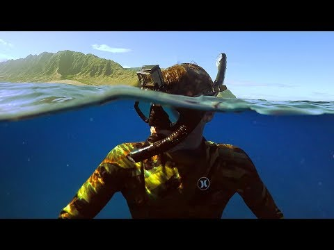 Freediving Power Plant in Hawaii! (Almost Died)   DALLMYD