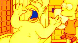 Homer hit by chair xddd