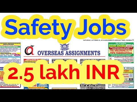 Safety Officer Latest Jobs Oct 2019
