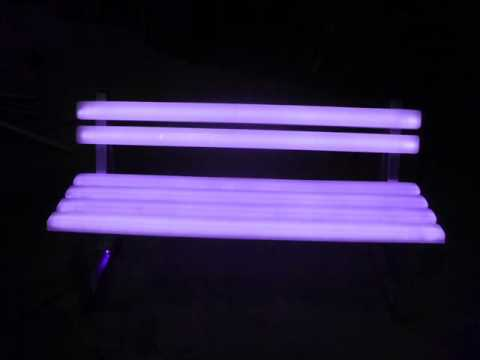 solar powered city bench