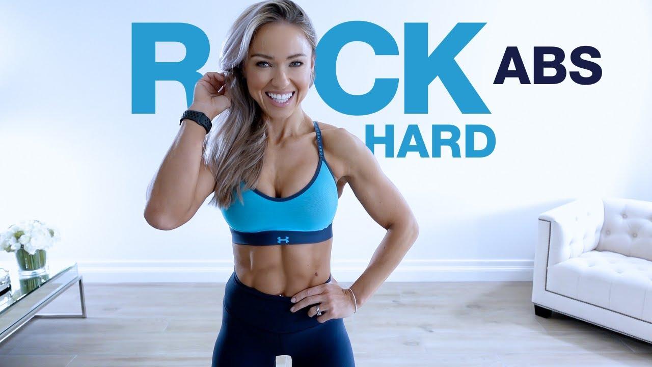 15 MIN ROCK HARD ABS WORKOUT   Core Strength at Home - Caroline Girvan