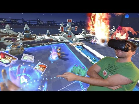 CLASH ROYALE IN VR! The Table at War VR HTC Vive Gameplay