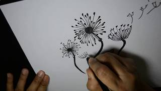 How To Draw Dandelions Step-By-Step