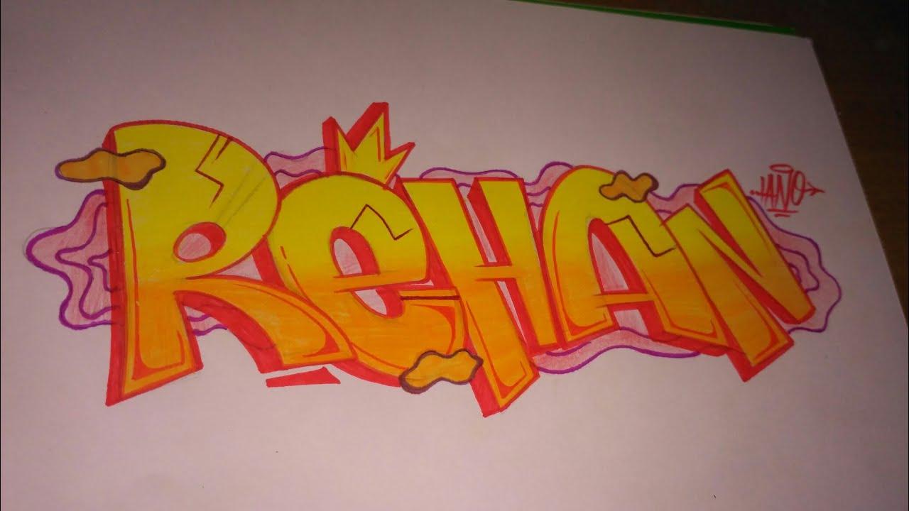 Graffiti Kertas Request Rehan 3 Youtube