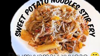 Sweet potato noodles stir fry   пүнтүүзтэй хуурга