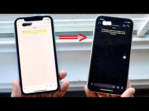How To Enable DARK MODE On WHATSAPP! (iOS & Android!)