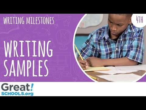 What does 4th grade writing look like? Milestones from GreatSchools