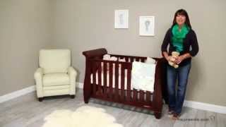 Simmons Kids Slumber Time Hutton Sleigh Crib - Chestnut - Product Review Video