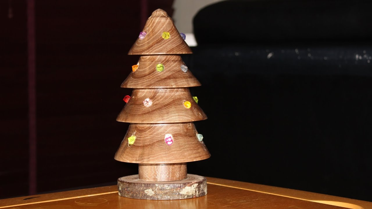 Christmas Tree Lamp. Christmas Ornament Woodturning ...
