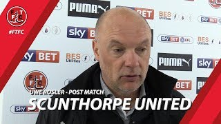 Uwe Rosler on Scunthorpe defeat | Post Match