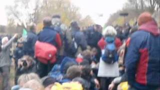 Stop Nuclear Power - Rail Blockade 6. Nov. 2010 in Berg/Pfalz,…