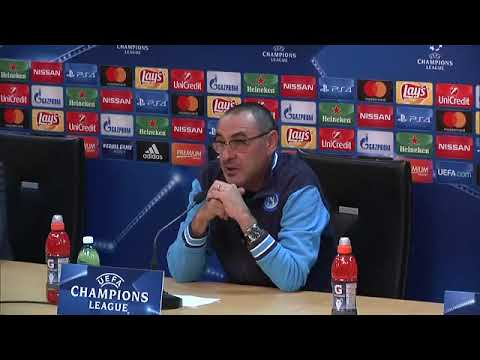 Champions League, Napoli - Shakhtar Donetsk: conferenza stampa di Maurizio Sarri