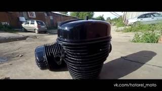 Пескоструйная обработка и порошковая покраска двигателя мотоцикла Урал(, 2016-07-14T02:07:42.000Z)