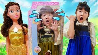 お料理ごっこ!巨大人形おままごとディズニープリンセスBBQ Playhouse Big disney princess Dolls Cinderella & BELLE