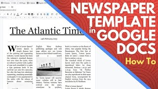 Newspaper Templates For Google Docs