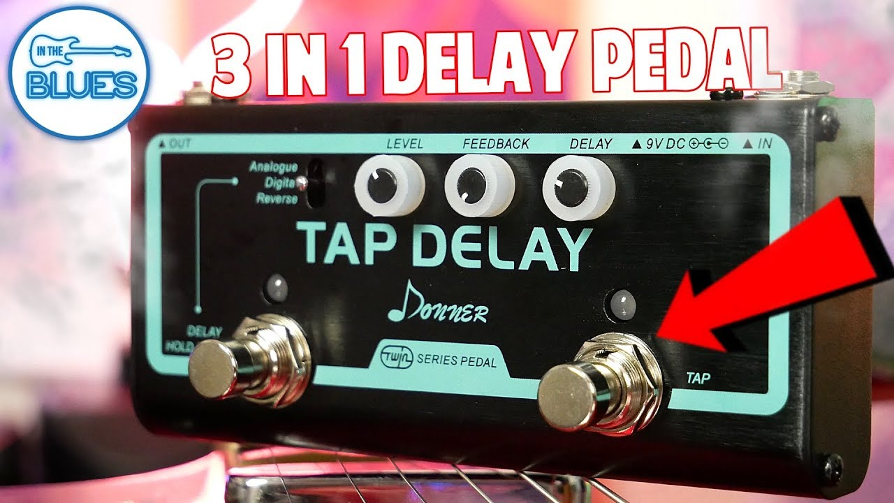 donner twin series tap delay pedal review 3 delays in 1 pedal youtube. Black Bedroom Furniture Sets. Home Design Ideas