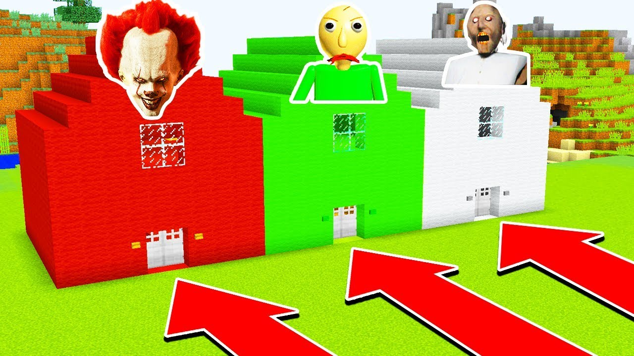 DO NOT CHOOSE THE WRONG HOUSE! (PENNYWISE ,BALDI'S BASICS, GRANNY)  Ps3/Xbox360/PS4/XboxOne/PE/MCPE)
