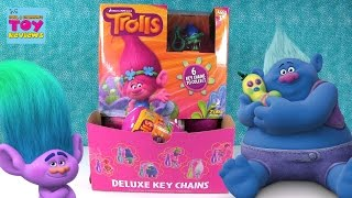 Trolls Movie Deluxe Keychain Keyring Blind Bag Capsule Opening Toy Review | PSToyReviews