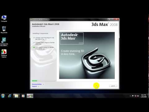 3ds Max 2008 Installation Process By Rafinur