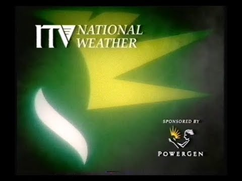 ITV National Weather plus Tyne Tees Continuity - 1996