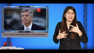 White House concerned about Taylor testimony (ASL - 11.7.19)
