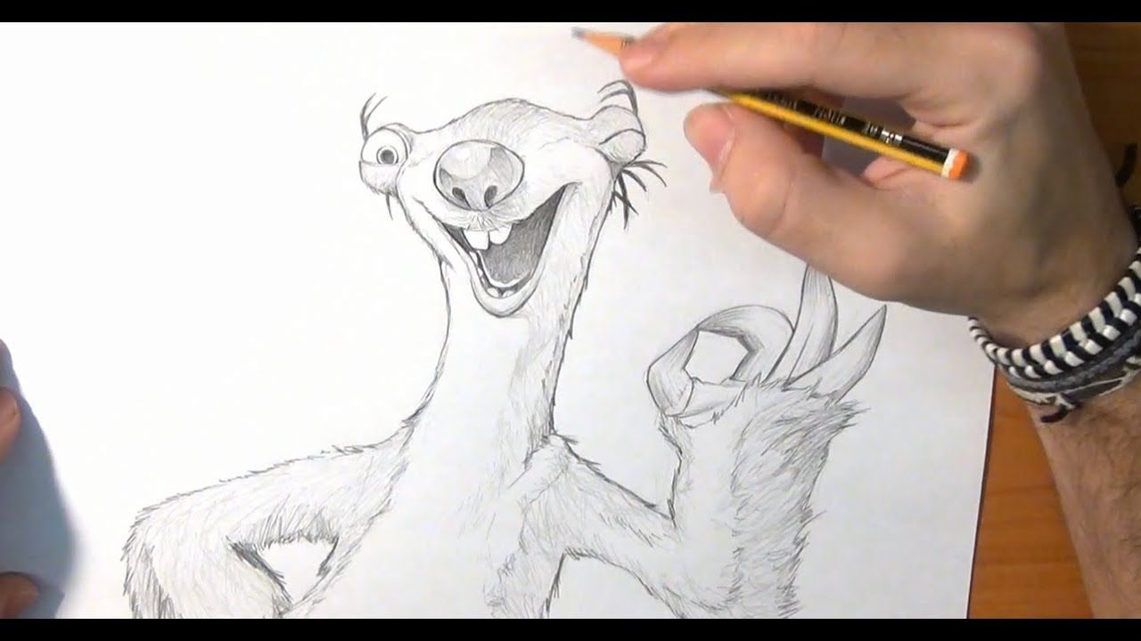 Aprende a dibujar a Sid de Ice Age  How to draw Sid of Ice Age