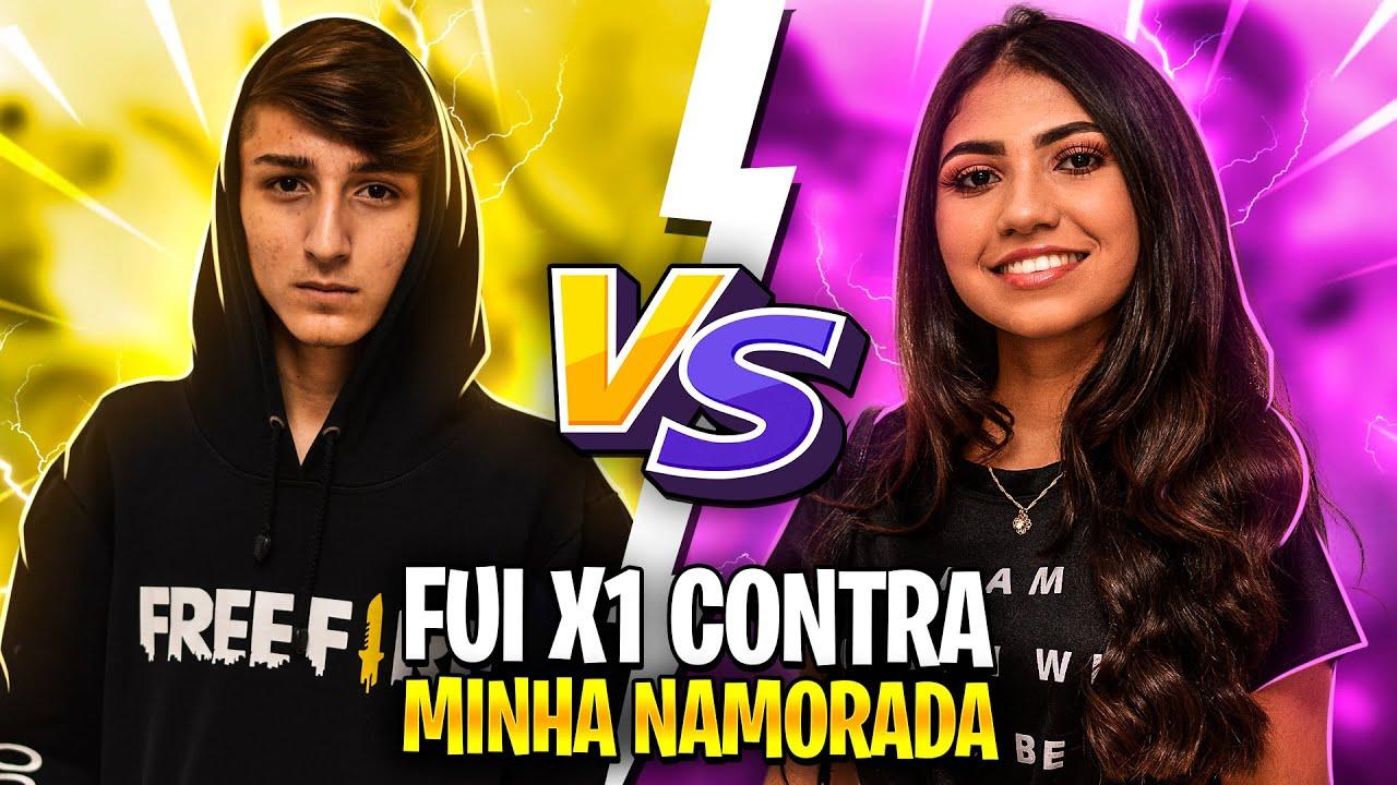 FUI X1 CONTRA MINHA NAMORADA NO FREE FIRE!! ELA FICOU BRABA!!