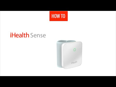 How to unpack and first use the wrist connected blood pressure monitor iHealth Sense