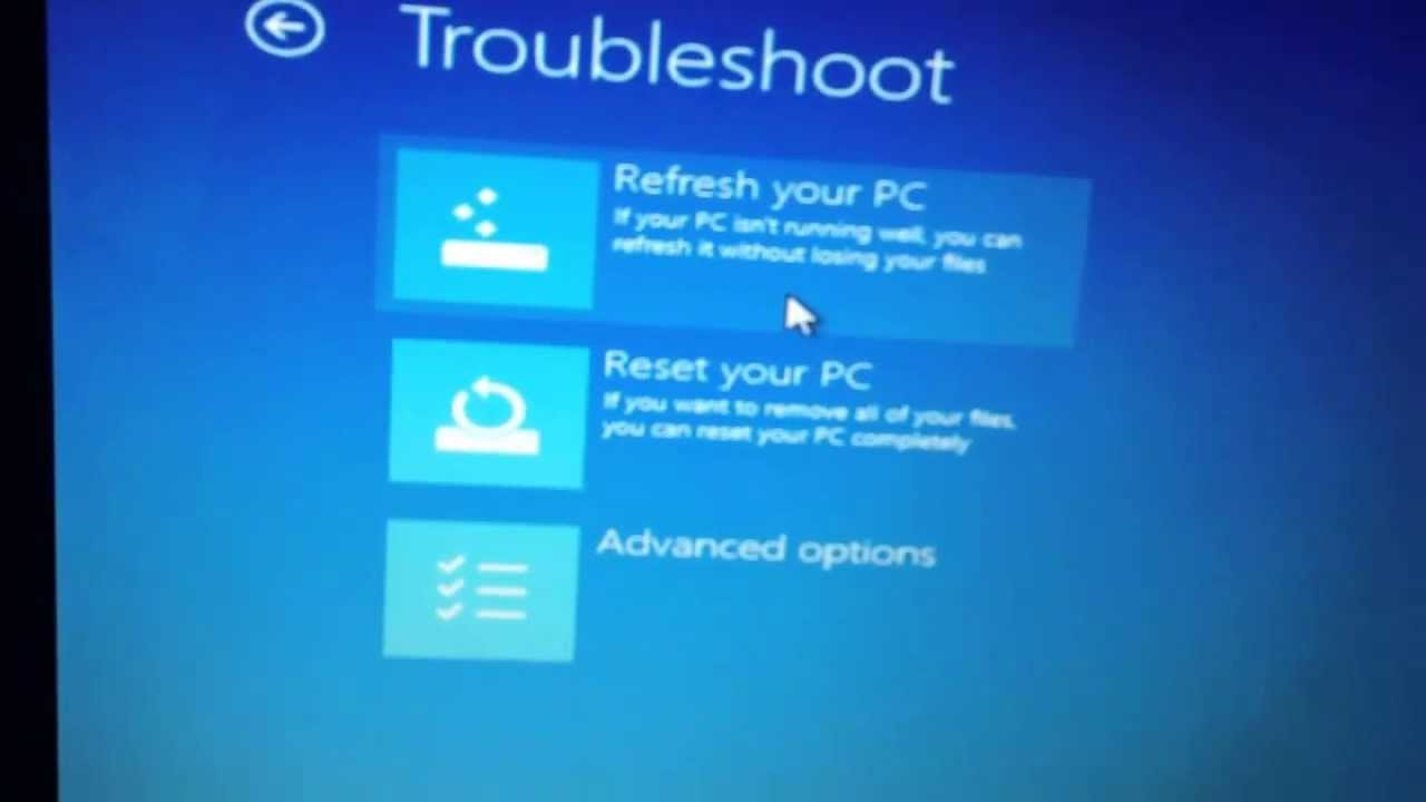how to factory reset your samsung windows 8 laptop