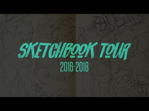 2016 - 2018 SKETCHBOOK TOUR (+Traditional Art)