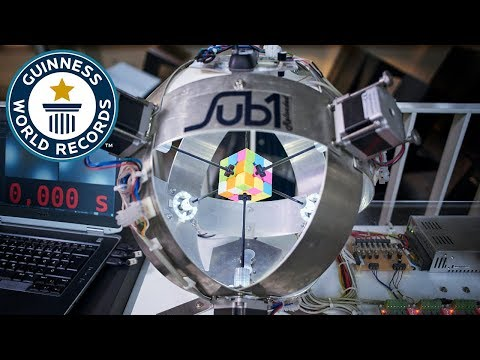 Rubik's Cube robot Sub1 - Meet The Record Breakers Europe