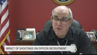 Impact of shootings on officer recruitment