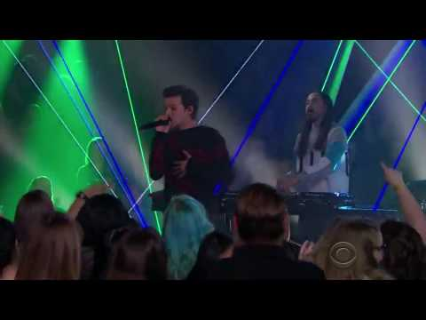 Steve Aoki & Louis Tomlinson - Just Hold On (Live on The Late Late Show)