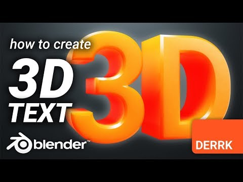 How to create 3D Text in Blender