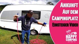 Camping Einsteiger Video - Ankunft am Campingplatz | Happy Camping