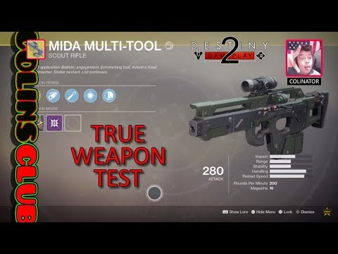 D2 Mida Multi-Tool Scout Rifle True Weapon Test
