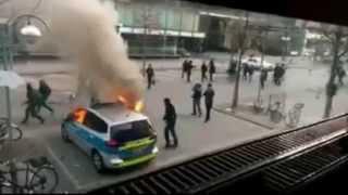 Angriff auf das 1.Polizeirevier Frankfurt (18.03.2015) thumbnail