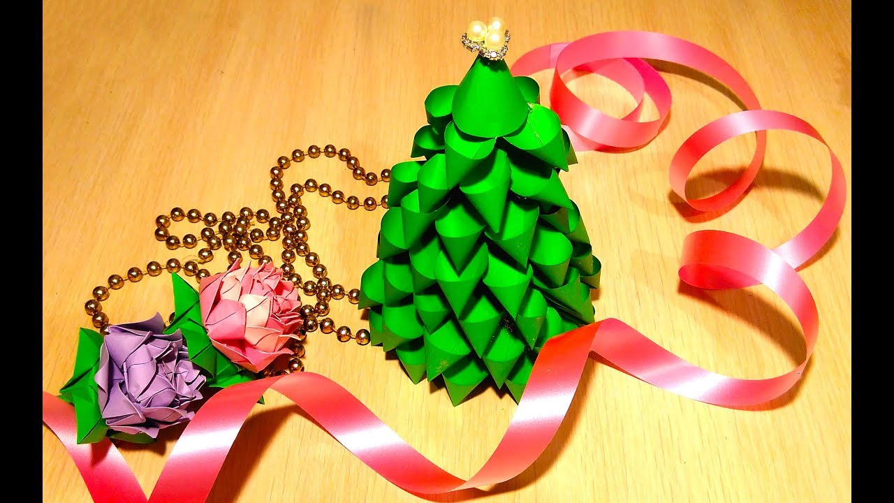 Paper Christmas Tree Ornaments Easy Diy Christmas Tree 3 Ideas Paper Christmas Tree
