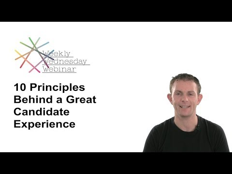 10 Principles Behind Candidate Experience Part 1