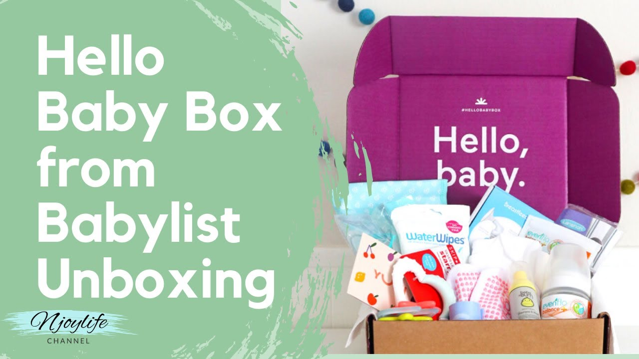 FREE BABY BOX from BABYLIST Registry Unboxing - FREE BABY ...