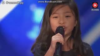 9 летняя китайская девочка поёт в Америке